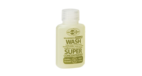 Sea to Summit Wilderness Wash Klespleie with Citronella 40ml Transparent